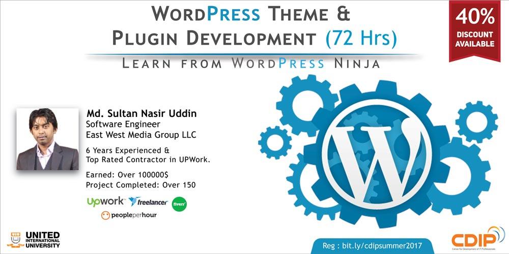 Wordpress Theme development and plugin development course